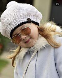 Берет шапка от Анны Дерий ручная вязка 4-8 лет