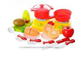 Продукты   на липучке, посуда, плита, дощечка , в кульке,