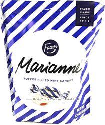Мятные конфеты c начинкой Toffee Fazer Marianne 220 грамм, Финляндия