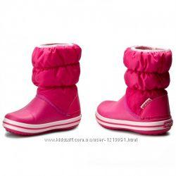 Сапожки крокс crocs puff boot kids, С10, С11, J2, J3