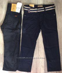 Котоновые брюки на флисе для мальчиков