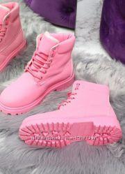 Ботинки зимние стильные, стелька 24, 5-25 см