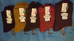 Носки женские с оригинальными вставками средней высоты премиум качество