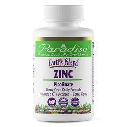 Paradise Herbs Цинк Пиколинат 30 мг комплекс с натуральными добавками,90 шт
