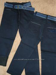 Зимние джинсы на флисе для стройных парней