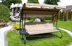 Садовая качеля диван VIP 4-х местная Poland до 300 кг.