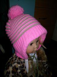 Фирменная шапочка с флисом на 1. 5 - 4 года