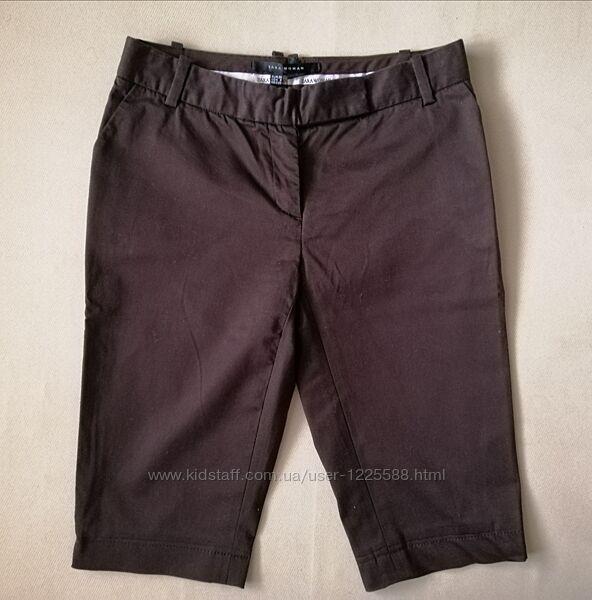 Бриджи шорты шоколадного цвета Zara р. S
