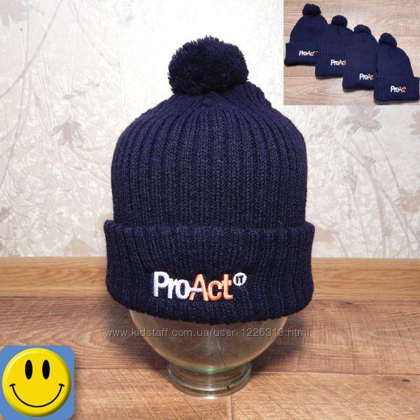 Новые шапки Pro-act 5-8 лет, 50-55 см. сток, для мальчика, осень-зима, спор