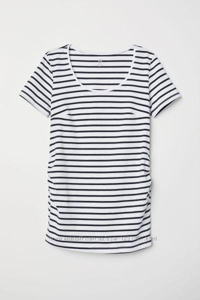 полосатая футболка для беременных на XS S