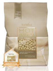 Горячий воск в гранулах ItalWax белый шоколад, 1 кг шпатели в подарок