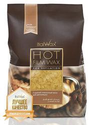 Воск в гранулах Italwax натуральный 1 кг шпатели в подарок