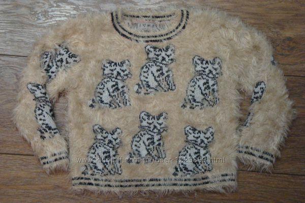 Красивый свитер травка  Next 5 лет кол-я 165 с тиграми