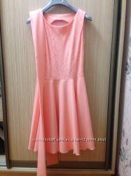 Платье выпускное персиковый цвет
