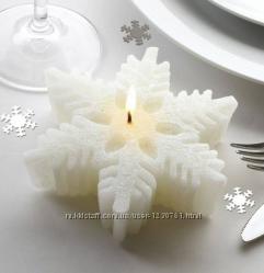 Замечательные нарядные свечи- снежинки. Палитра.