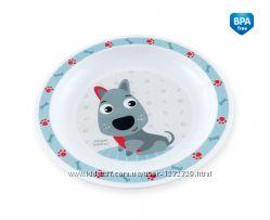 Тарелка пластиковая мелкая Smile Canpol Babies