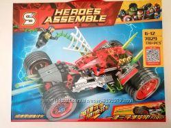 Конструктор Heroes Автомобиль Человека-Паука аналог, Веном, Спайдермен