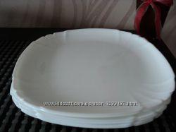 Тарелки Luminarc белая черная