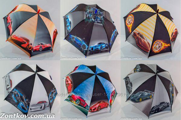 Детский зонт для мальчика super cars на 6-9 лет от фирмы SL 18104
