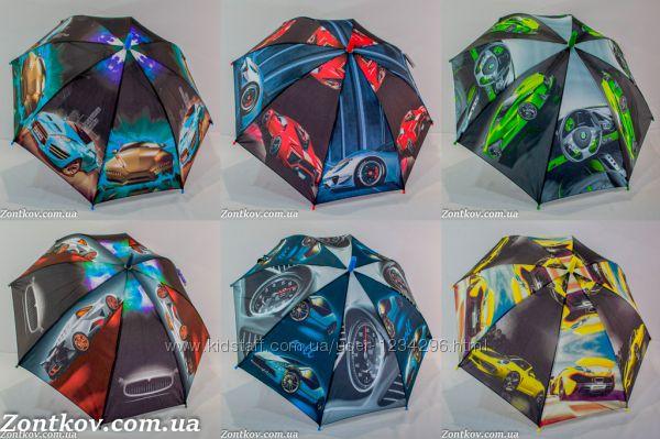 Детский зонт для мальчика super cars на 6-9 лет от фирмы SL 18103