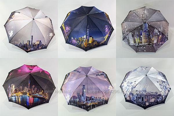 Складной женский зонтик сатин полуавтомат от фирмы Fiaba 701