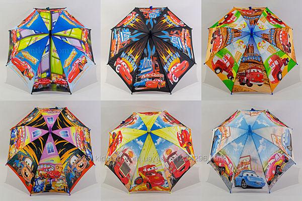 Детский зонтик для мальчика с машинкамина 4-6 лет 0103-19