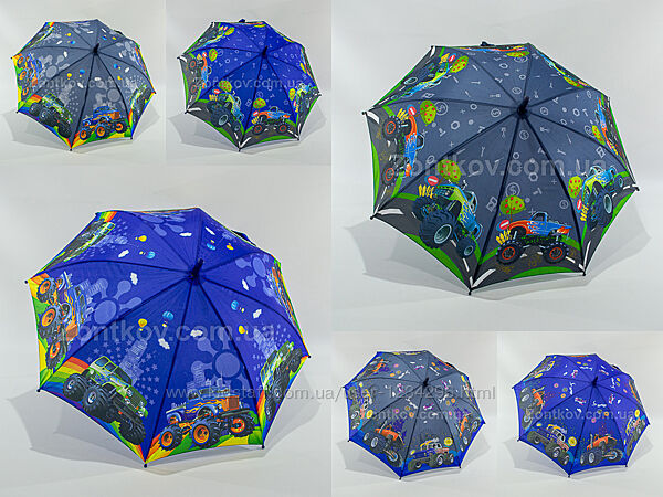 Зонтик для мальчика с большими машинами на 5-9 лет от фирмы Fiaba 2100