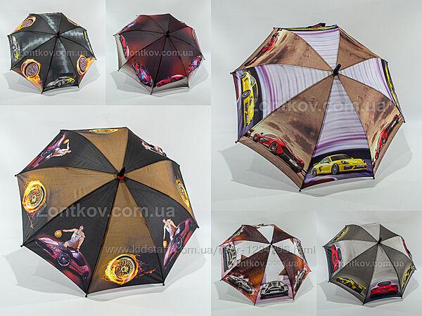 Детский зонтик для мальчика с машинками на 5-9 лет от фирмы Fiaba 2101