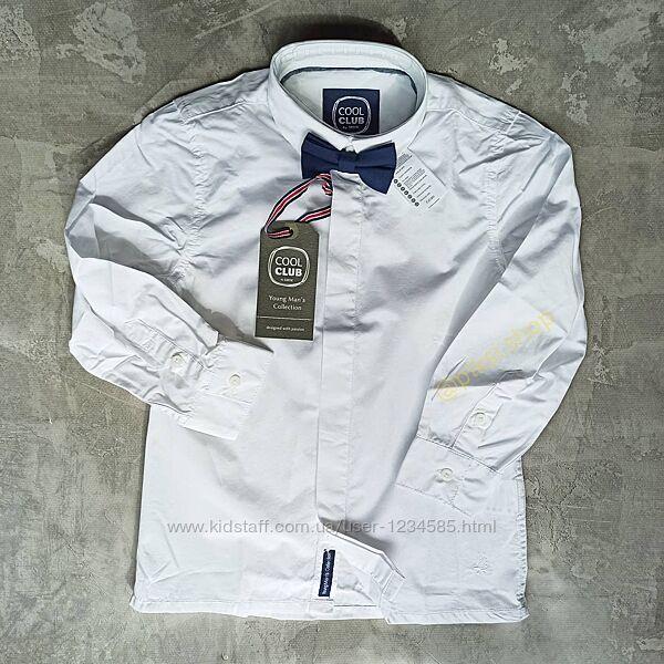 Белая рубашка с бабочкой ТМ Сool Club