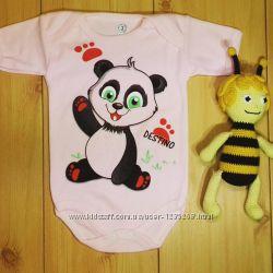 Детский бодик для девочки Панда