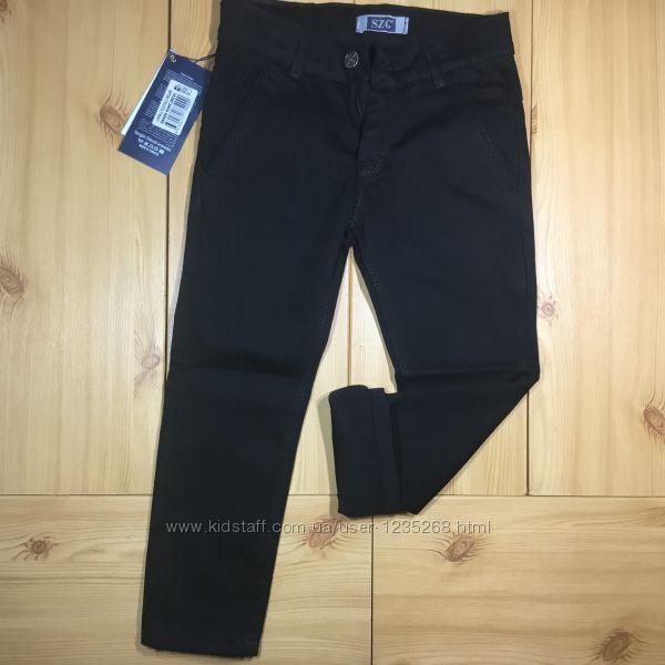 Детские теплые брюки на флисе для мальчика черные рр. 110-116 Beebaby Бибе
