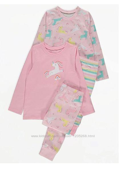 Пижама для девочки рр.98-104, 128-140 Единорог George Джордж