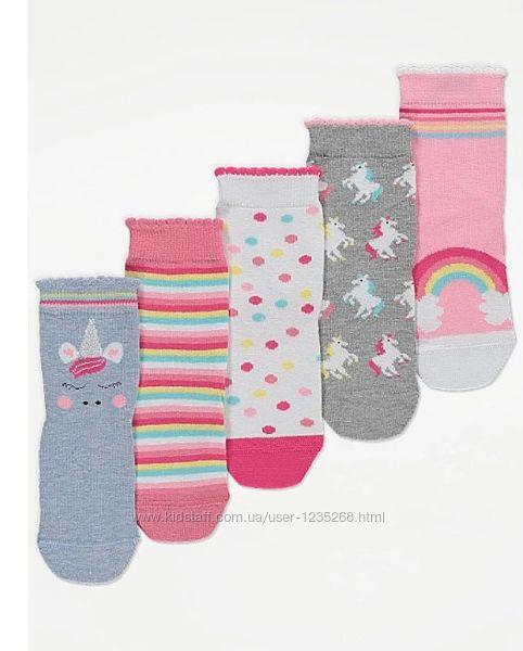 Набор носков для девочки Единорог р.27-38 George Джордж