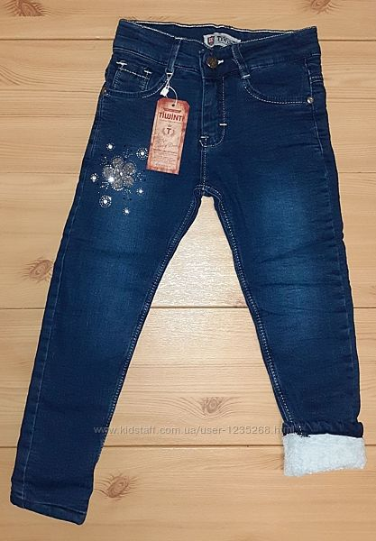 Теплые джинсы для девочки рр. 116-140 Beebaby Бибеби