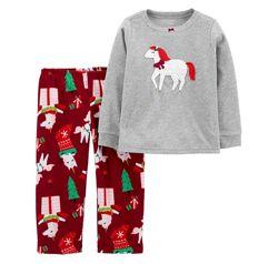 Флисовая пижама для девочки рр.92-110 Единорог Carter&acutes Картерс