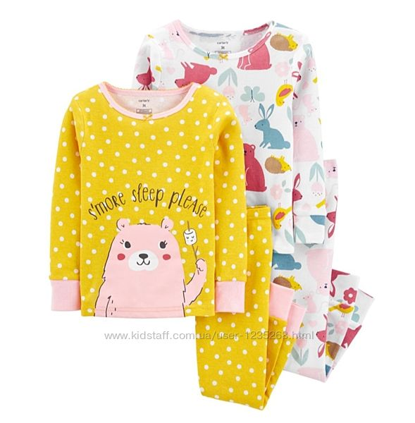 Пижама для девочки рр.98-110 Carter&acutes Картерс