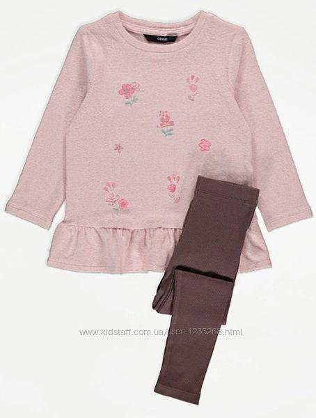 Теплый костюм для девочки р.98-104 George Джордж