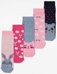 Набор носков для девочки р.19-30 George Джордж