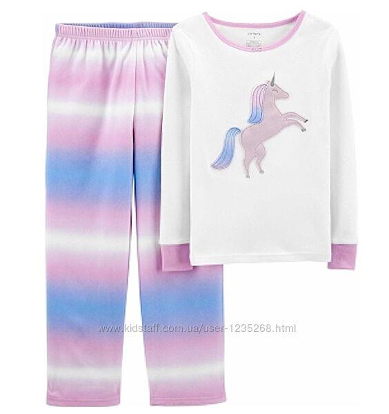 Пижама для девочки рр.92-98, 116-128 Единорог Carter&acutes Картерс