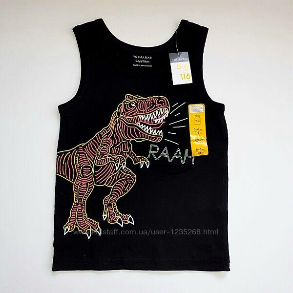 Майка для мальчика рр.110-128 Динозавр Primark Примарк