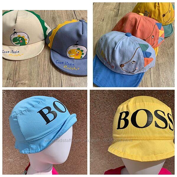Панамки и кепки для мальчика рр.46-48