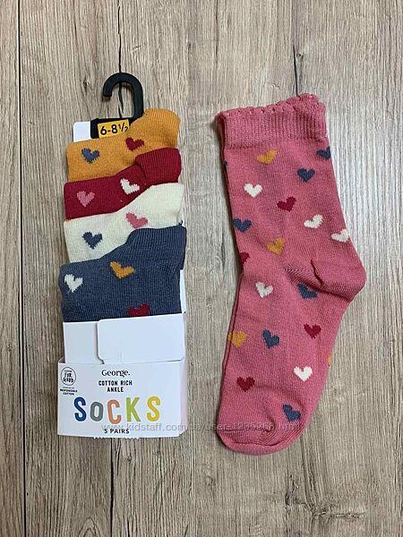 Набор носков для девочки р.23-36 George Джордж