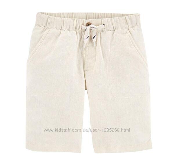 Ленные шорты для мальчика рр.116-122 Carters