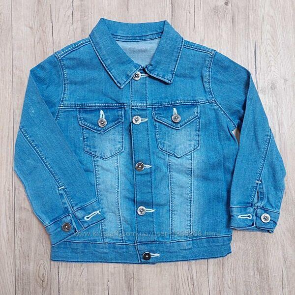 Джинсовый пиджак рр.98-152 Beebaby