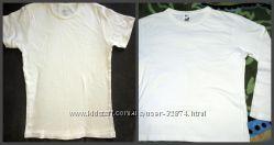 Белый реглан и футболка одним лотом на мальч 7-9 лет