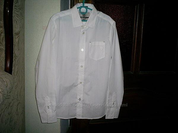 Новая белая рубашка Wanex с коротким рукавом на р. 158-164 см. Турция.