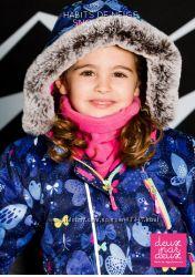 Дизайнерская комфортная и эффектная зимняя одежда для девочек Deuх Par Deux