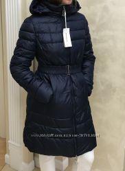 821ae96eb42 Пуховик синий зимний под пояс biancoghiaccio орнигинал италия зимняя куртка