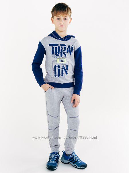 122-140  Комплект для мальчика двунитка Смил