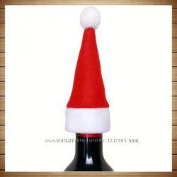 Новогодняя шапочка для бутылки